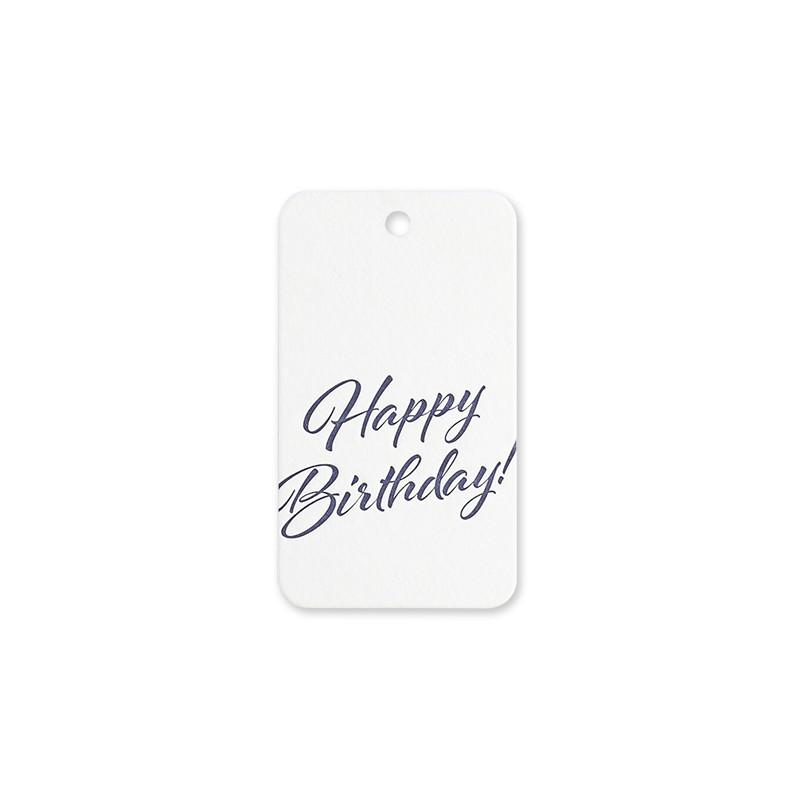 Script Birthday Tag - Set of 6