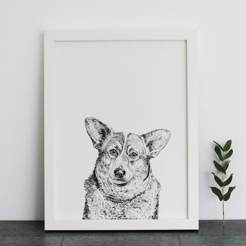 Duke the Corgi Print