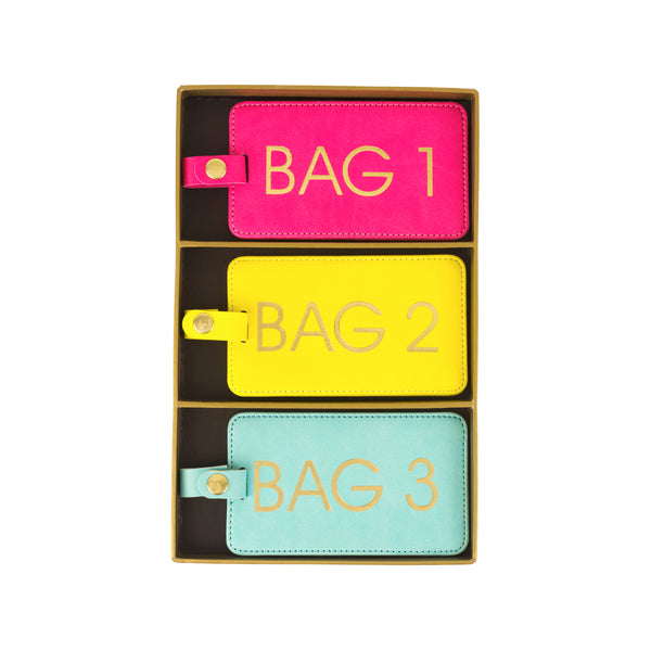 Bags 1, 2, 3 Luggage Tags S/3