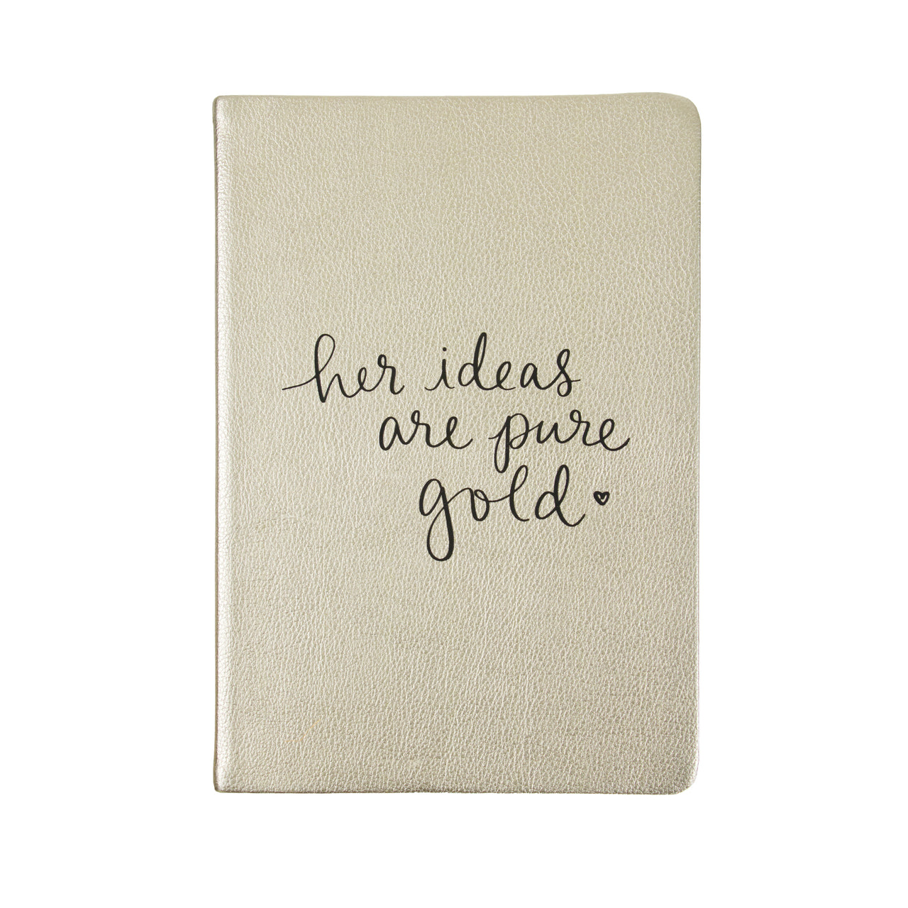 Journal Gold Her Ideas are Gold 6x8