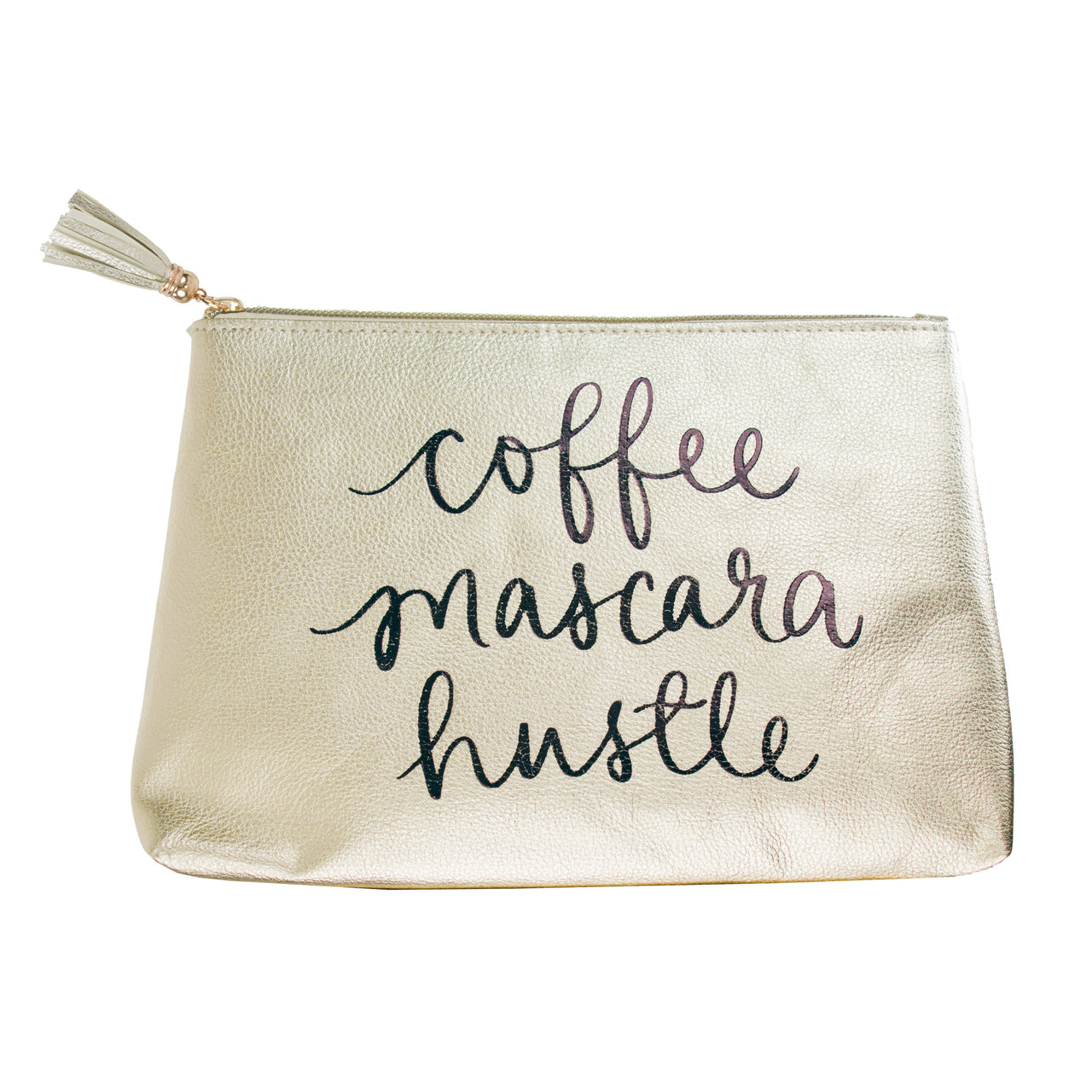Pouch Gold Coffee Mascara Hustle 6x8.5