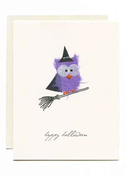 """Happy Halloween"" Witch on a Broom"