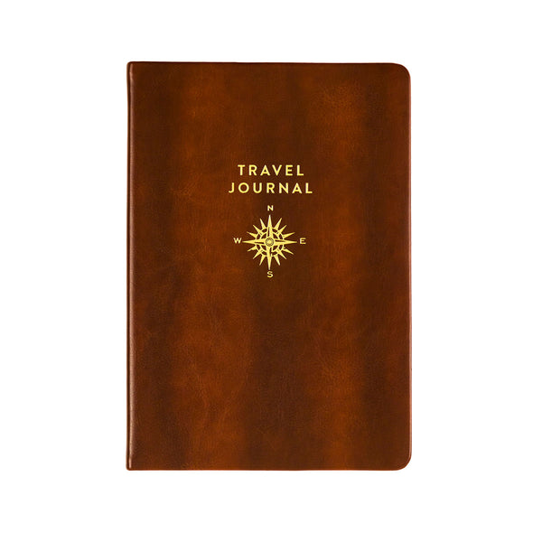 Brown with Gold Compass Travel Journal 6x8