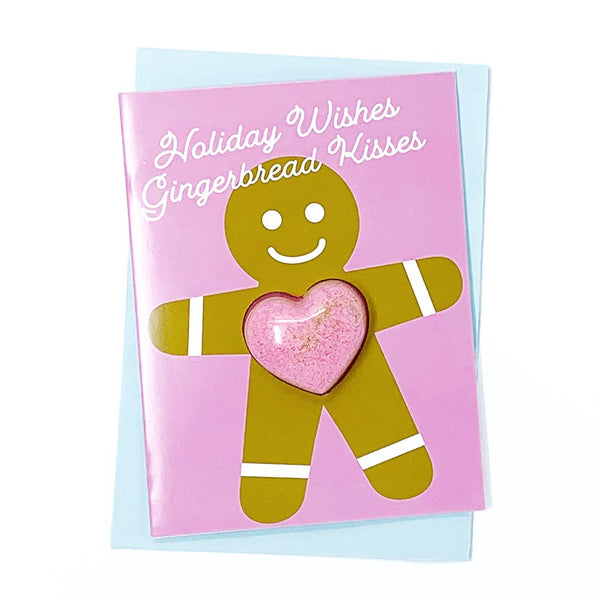 Holiday Wishes Gingerbread Kisses Bath Bomb Card