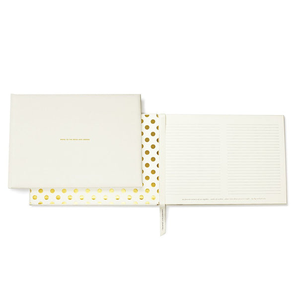 Kate Spade guest book - notes to the bride and groom