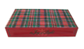 Holiday Red Plaid, UV Coated & Embossed Matchbox 4""