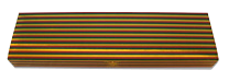 "Holiday Stripes Gold Foiled 9"" Fireplace Matchbox"