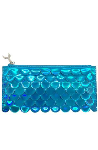 Holographic Scales Blue Pencil Pouch