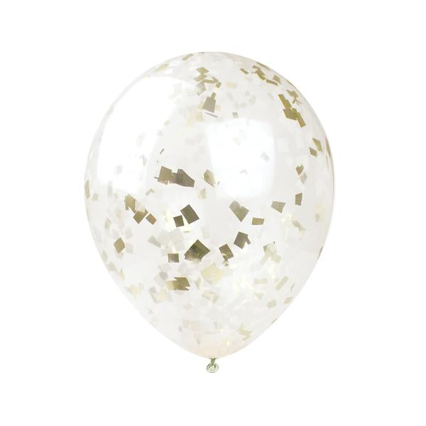 Buttercream & Gold Confetti Balloon Kit - S/3