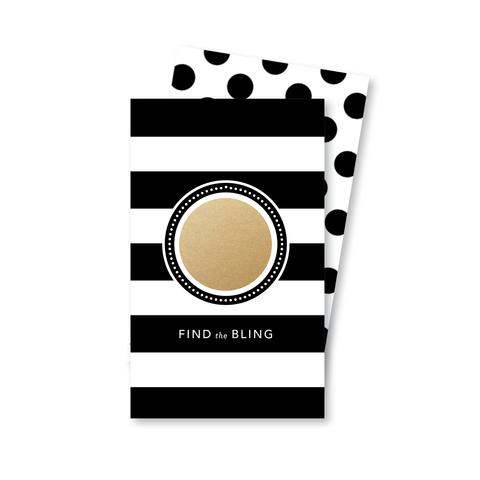 Gold Parisian Stripes Scratch-Off Game