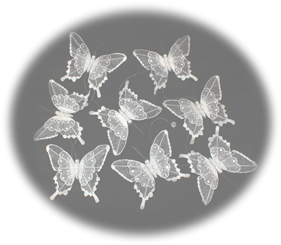 Silver Butterfly Garland