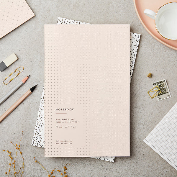 Pink Bullet Notebook - Unlined/Dotted/Lined