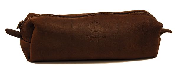 Leather Pencil Case with Zipper
