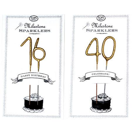 Celebrate 80 Birthday Gold Sparkler Card