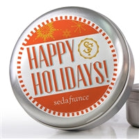 Holiday Toile Single Travel Tin Candle