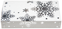 Snowflakes with White, Silver Foiled & Embossed Matchbox 4""