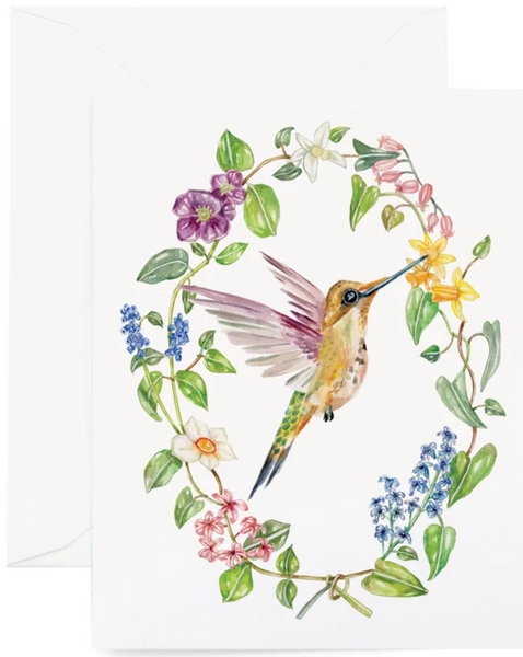 Botanic Hummingbird Card