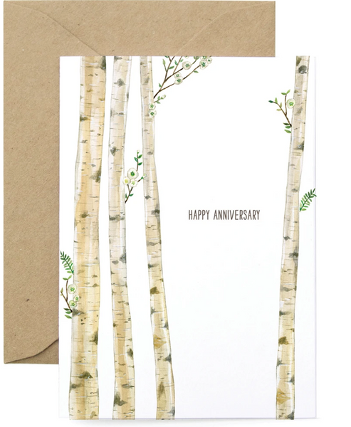 Birch Anniversary Card