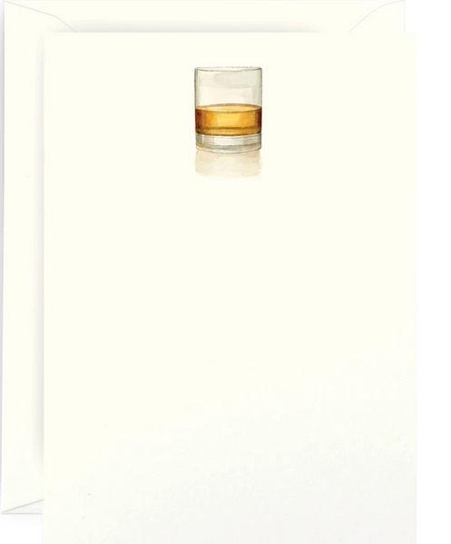 Whiskey Glass Note Cards