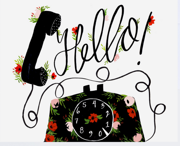 Floral Phone Greeting Card