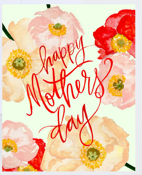 Watercolor Poppies Mother's Day Card