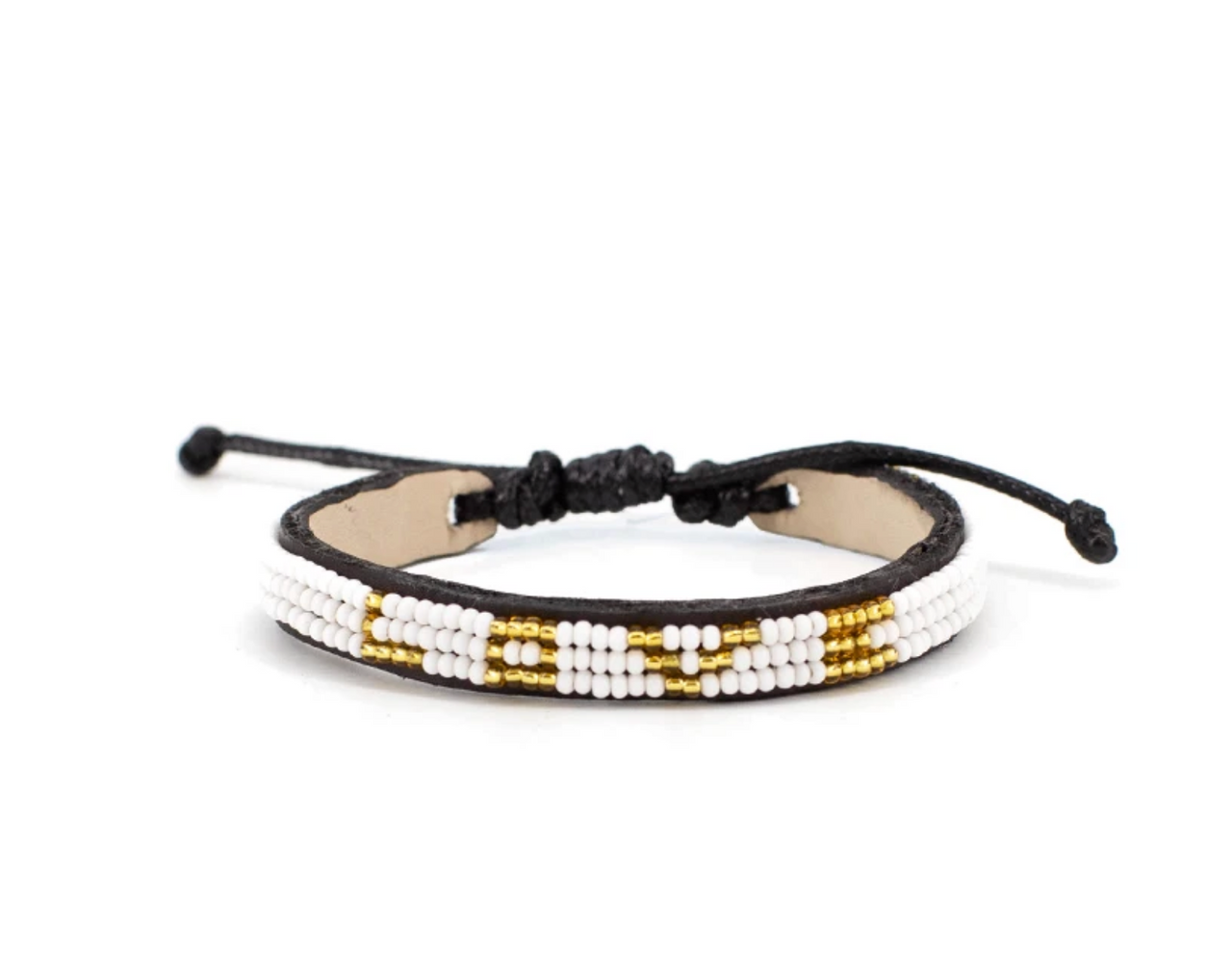 3 Row Gold/White LOVE Bracelet