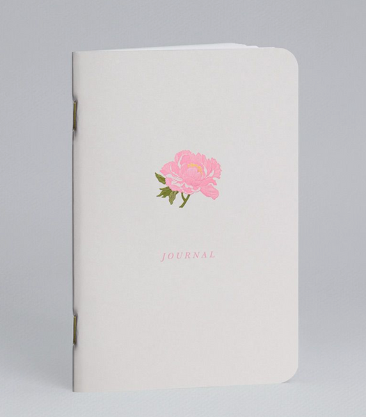 Engraved Peony Journal