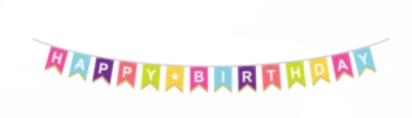 Bold and Bright Birthday Dayglo Banner