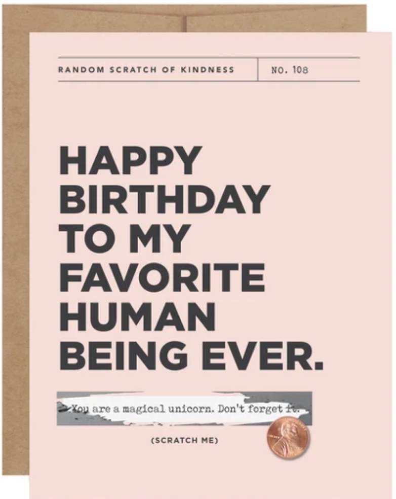 Happy Birthday Scratch-off Card