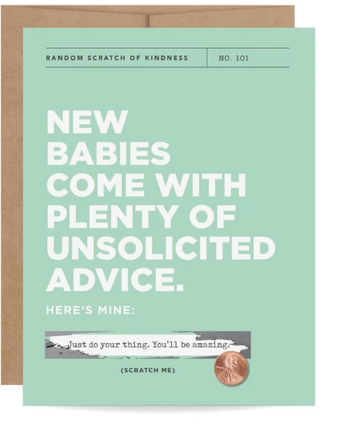 New Babies Scratch-off Card