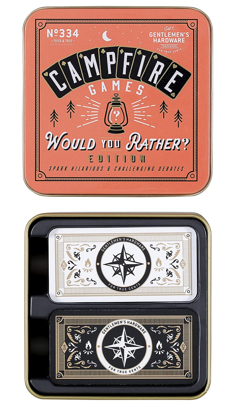 Gentlemen's Hardware Waterproof Campfire Would You Rather Game