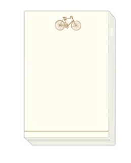 Gold Bicycle Notepad