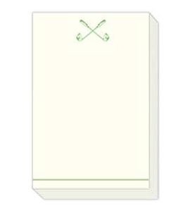 Green Golf Clubs Notepad