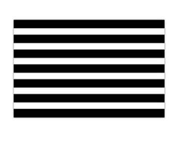 Black Cabana Stripe Placemat
