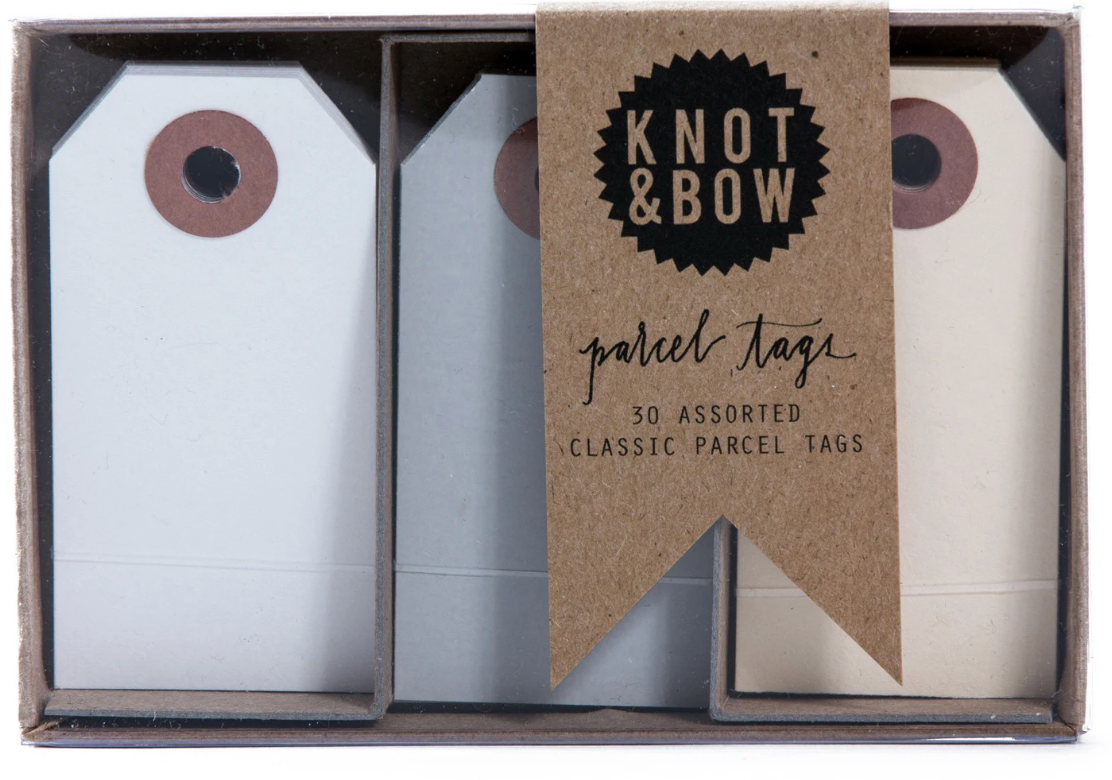 Neutral Parcel Tags Trio