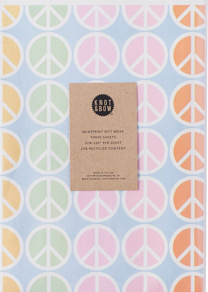 Peace Newsprint Wrap