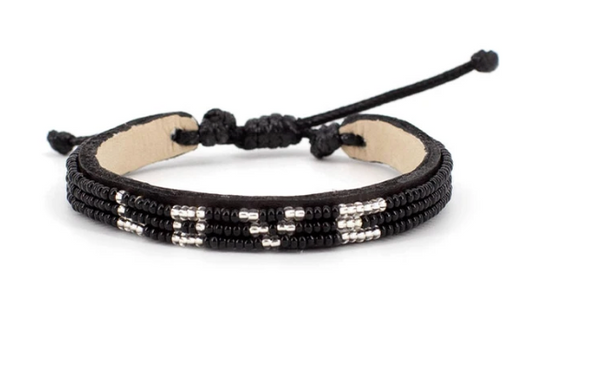 3 Row Black/White LOVE Bracelet