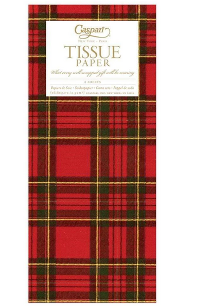 Royal Plaid Tissue Paper - 4 Sheets