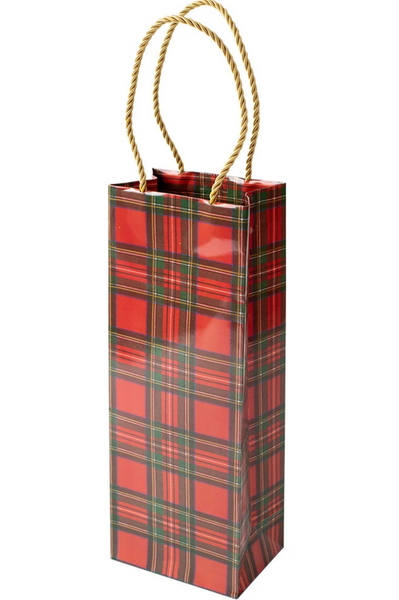 Royal Plaid Wine & Bottle Gift Bag
