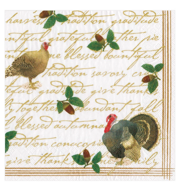 Founder's Thanksgiving Paper Luncheon Napkins - 20 Per Package