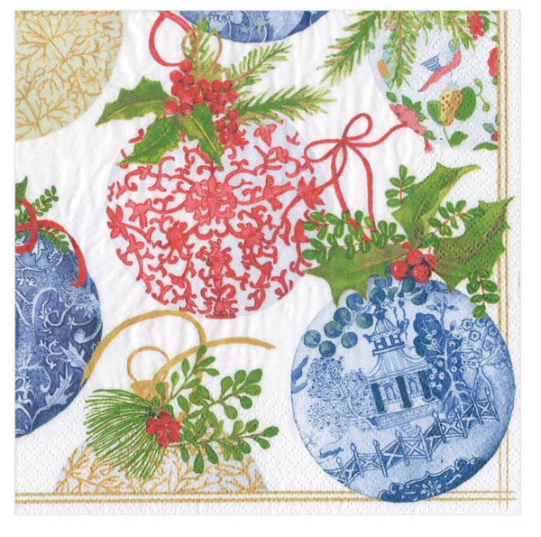 Porcelain Ornaments Paper Luncheon Napkins - 20 Per Package