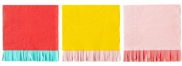 Fringed Cocktail Napkins