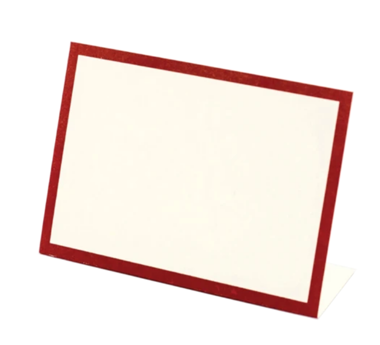 Red Frame Place-Card - Pack of 12