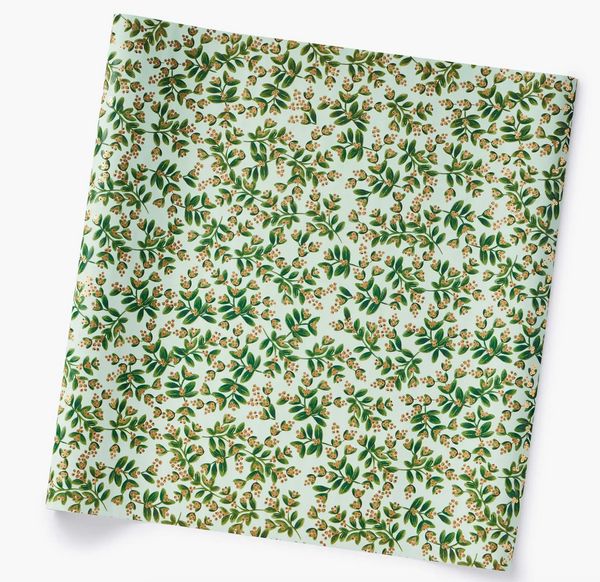 Mistletoe Mint Continuous Wrapping Paper