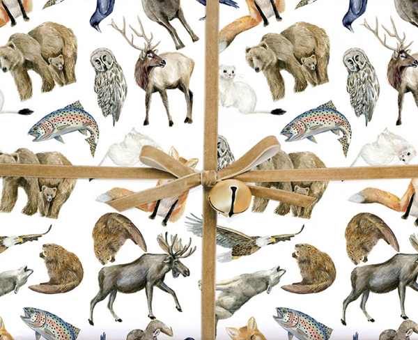 Mountain Animals Gift Wrap