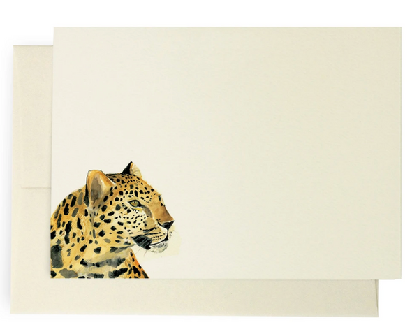 Safari Leopard Note Cards- S/10