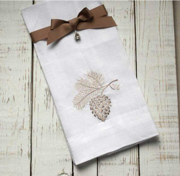 Pinecone Linen Towel