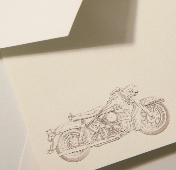 Engraved Motor Bike Card - S/10