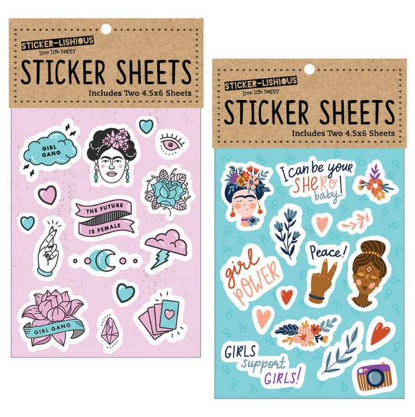 Girl Power Sticker Sheets