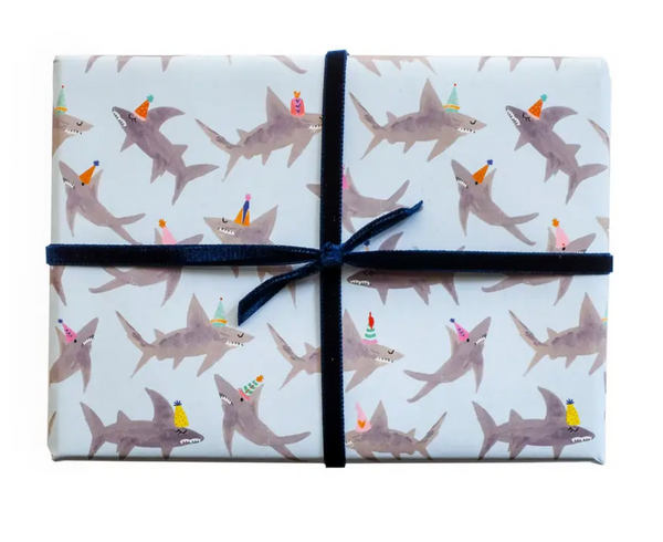 School of Sharks Gift Wrap